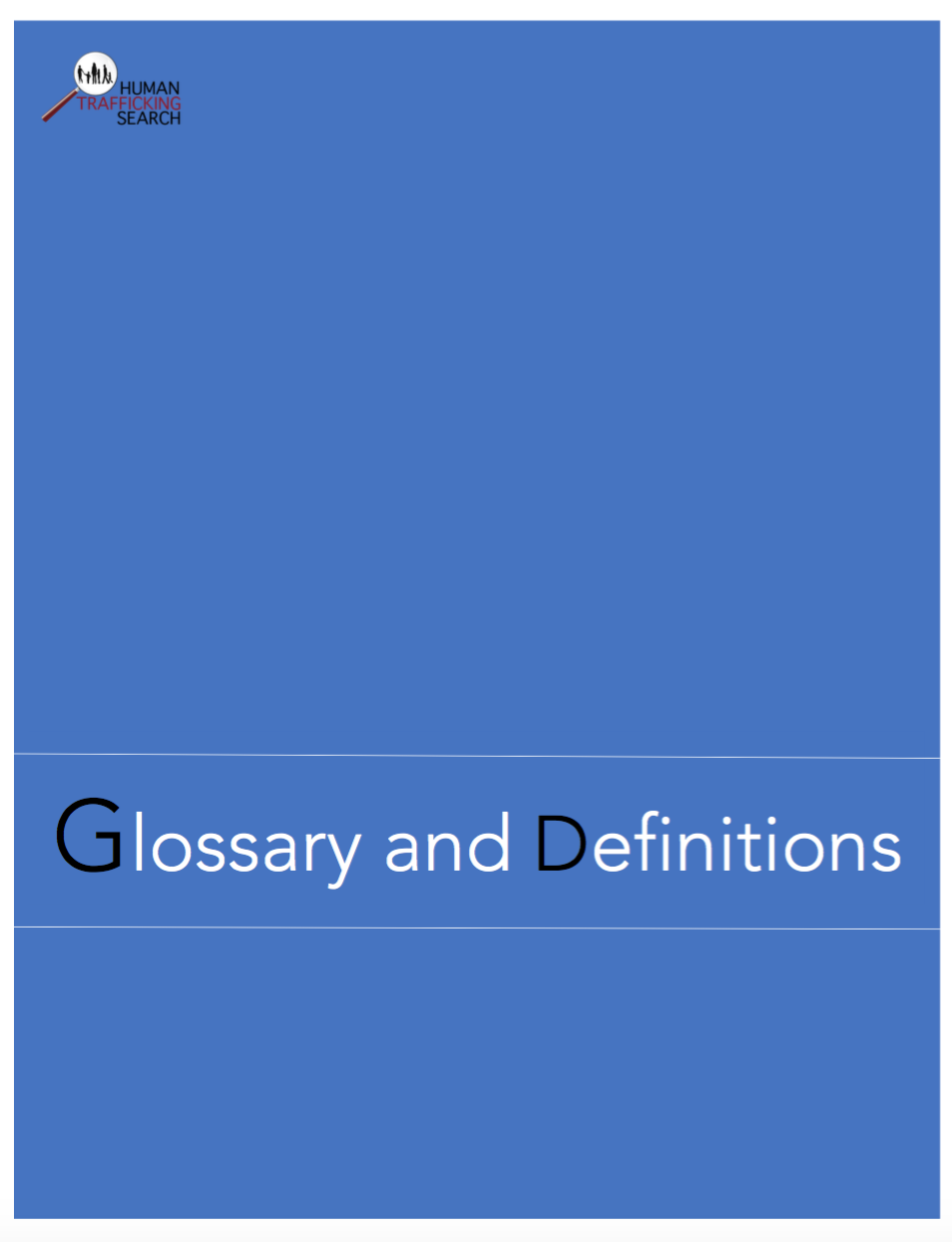 Glossary and Definitions