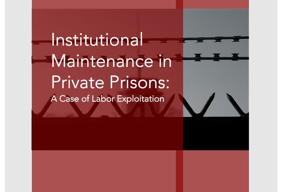Comparing Compensation: What Inmates in Private Prisons Would Otherwise Get Paid
