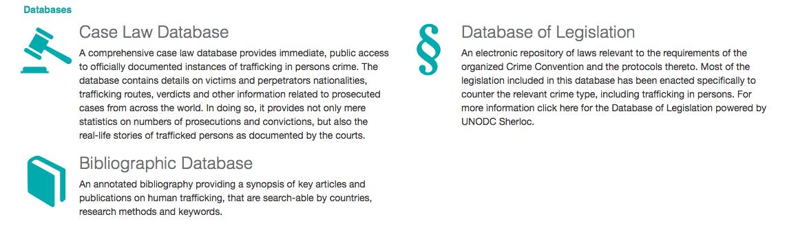 UNODC Human Trafficking Knowledge Portal