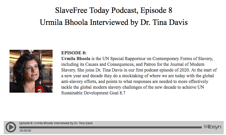 Podcast: Interview with UN Special Rapporteur on Contemporary Forms of Slavery