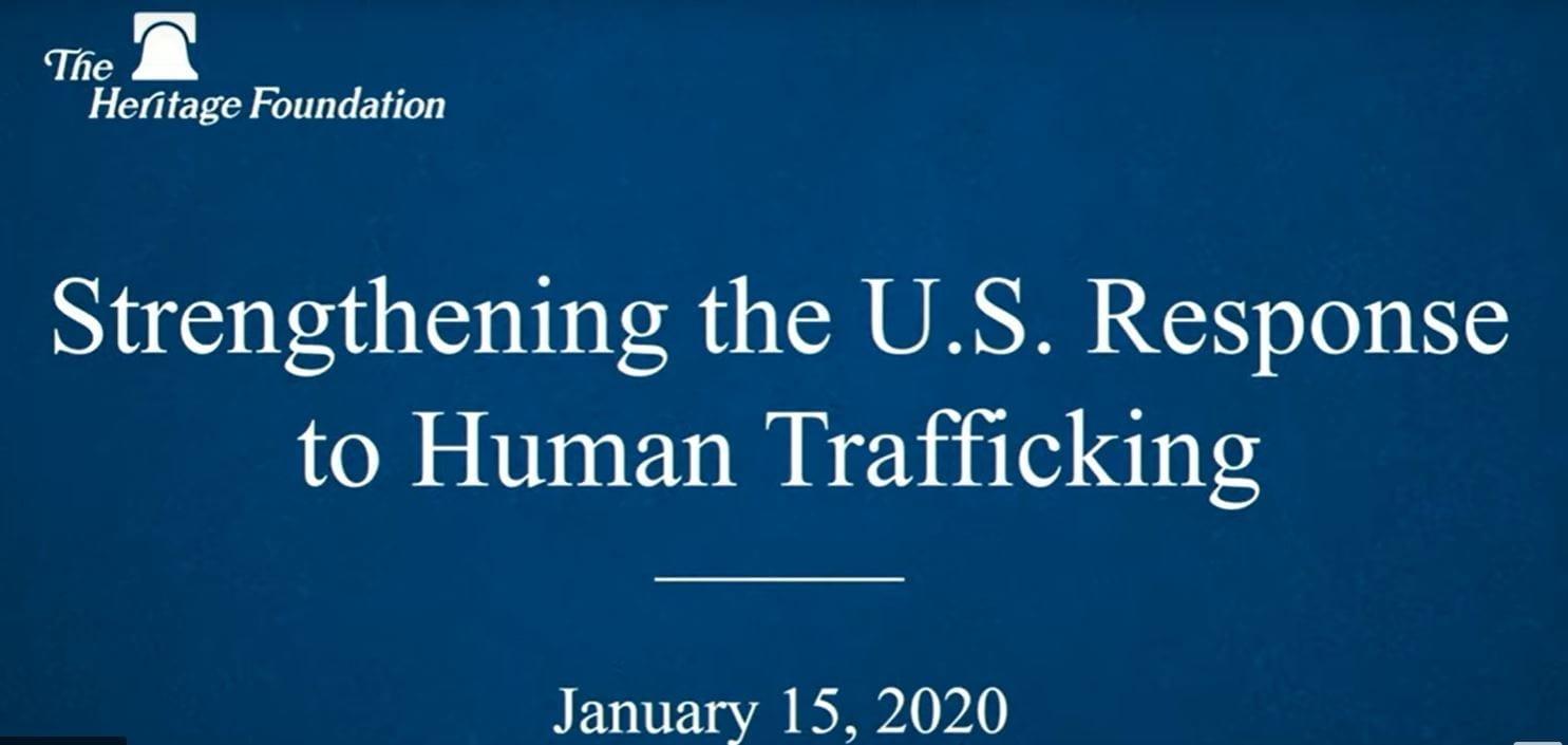 Strengthening the U.S. Response to Human Trafficking