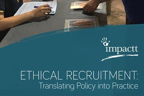 ETHICAL RECRUITMENT: TRANSLATING POLICY INTO PRACTICE