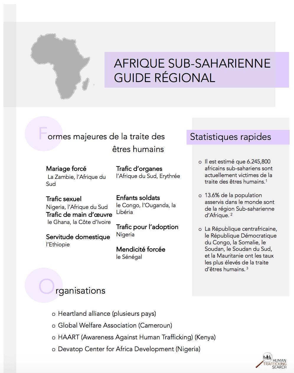 Afrique Sub-Saharienne Guide Regional (FR), 2017