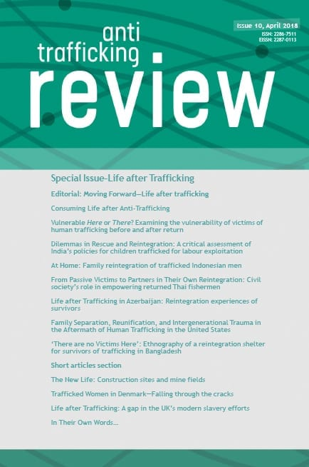 Editorial: Moving Forward – Life After Trafficking