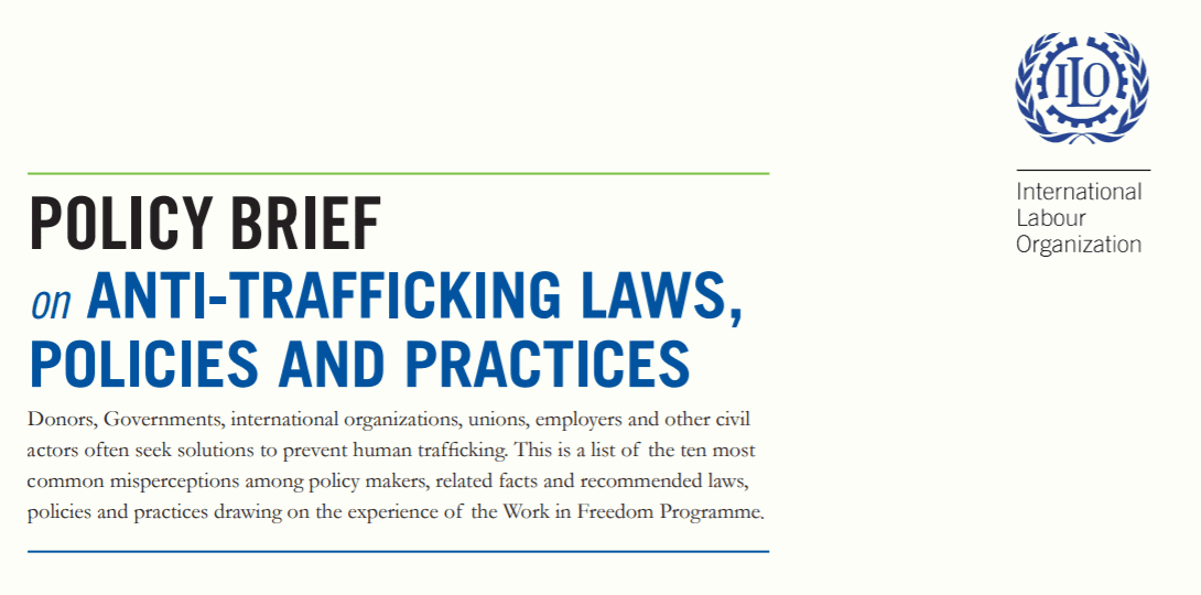 Policy brief on anti-trafficking laws, policies and practices