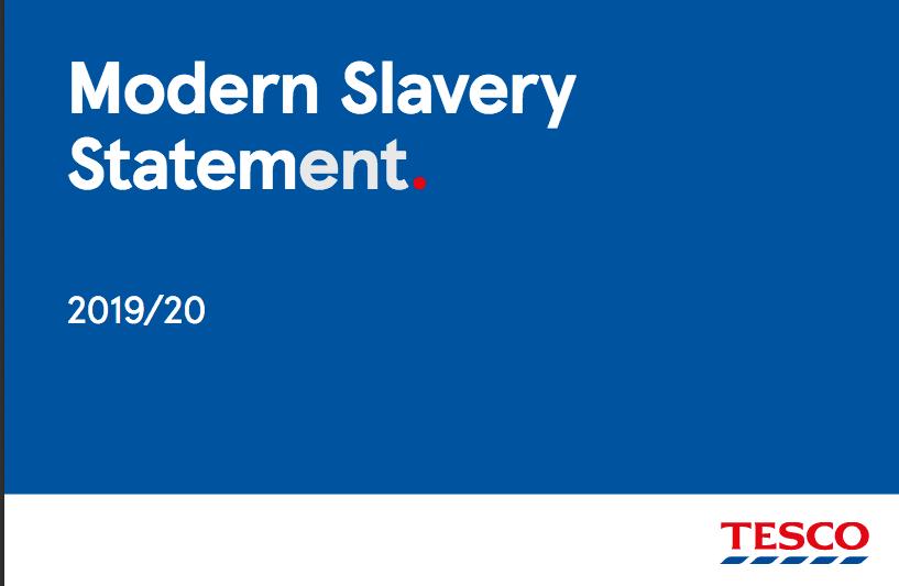 Tesco Modern Slavery Statement