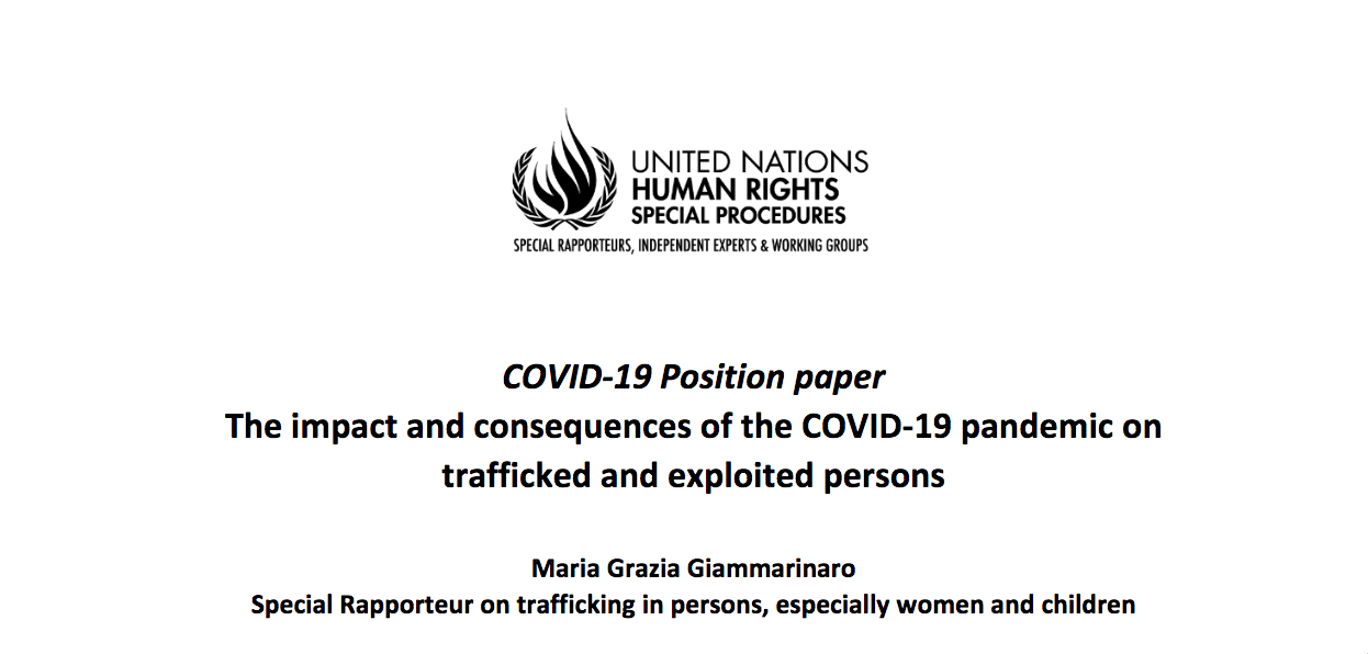 The Impact of COVID-19 on Trafficked Persons