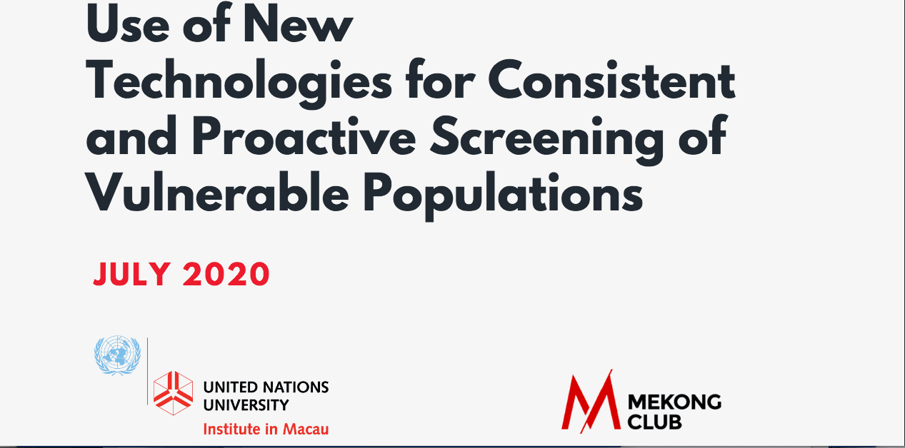 Use of New Technologies for Consistent and Proactive Screening of Vulnerable Populations