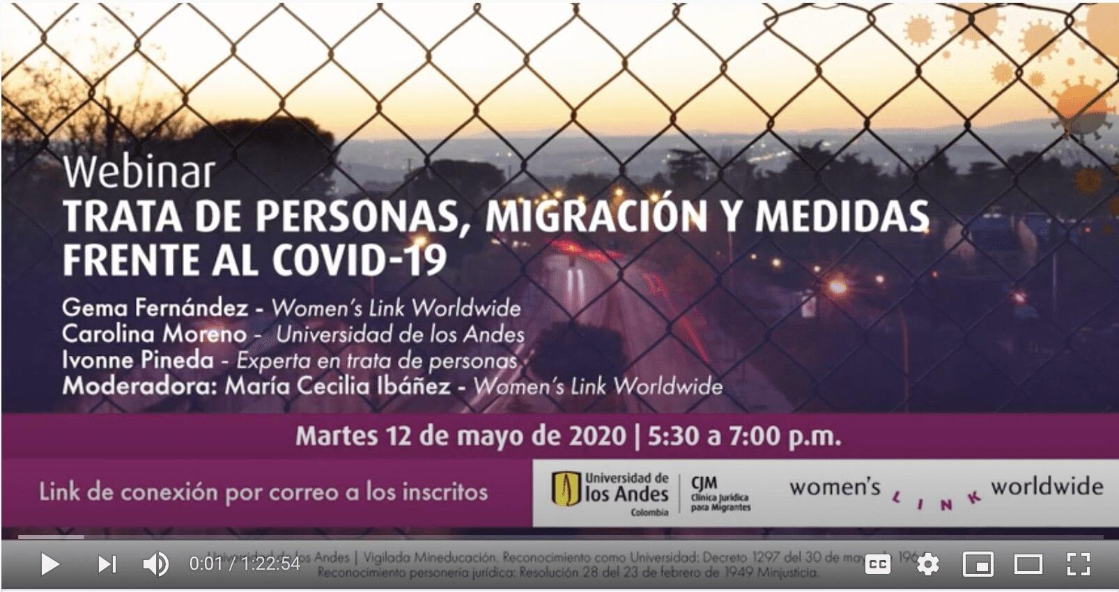 Evento virtual: Trata de personas, migración y medidas frente al Covid-19