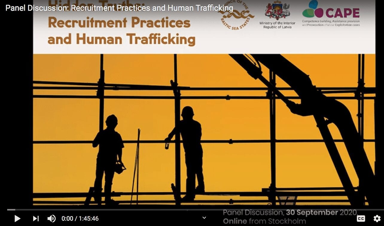Panel Discussion: Recruitment Practices and Human Trafficking