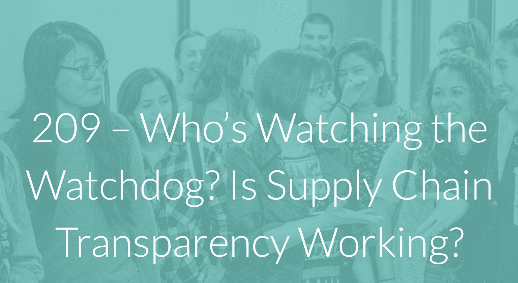Podcast Episode: Who's Watching the Watchdog? Is Supply Chain Transparency Working?