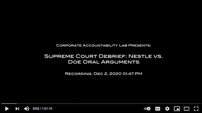 Nestle v. Doe Debrief
