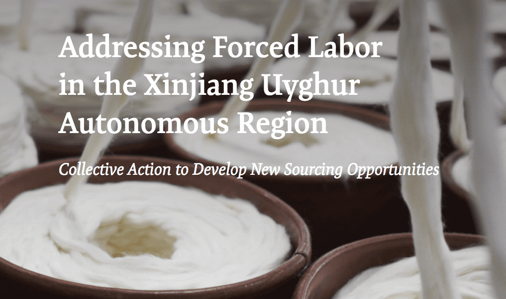 Addressing Forced Labor in the Xinjiang Uyghur Autonomous Region: Collective Action to Develop New Sourcing Opportunities