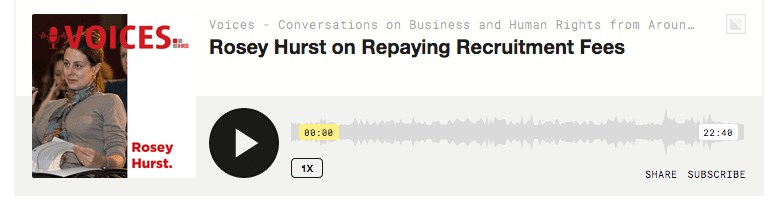 Podcast: Repaying Recruitment Fees