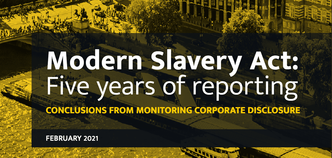 Modern Slavery Act Report Cover