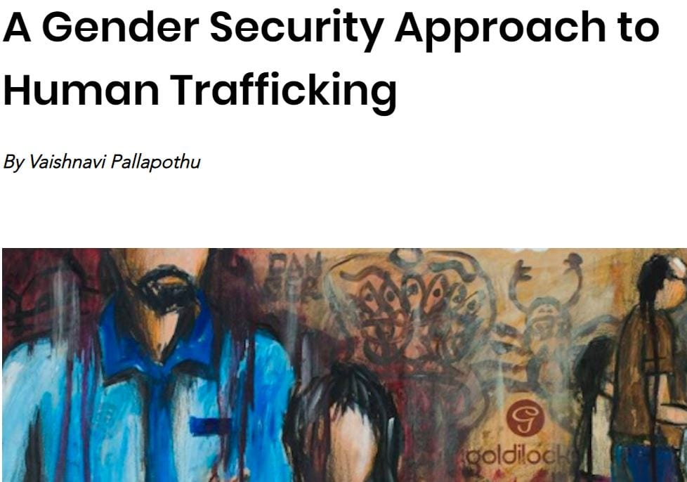 A Gender Security Approach to Human Trafficking