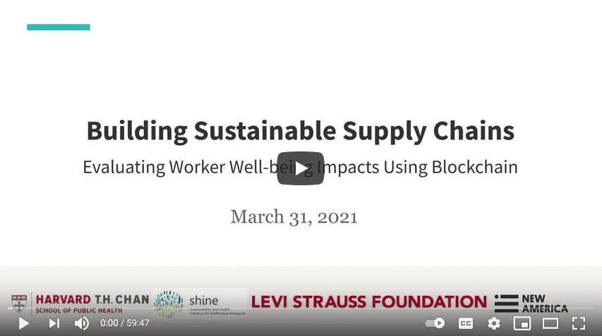 Evaluating Worker Well-being Impacts Using the Blockchain