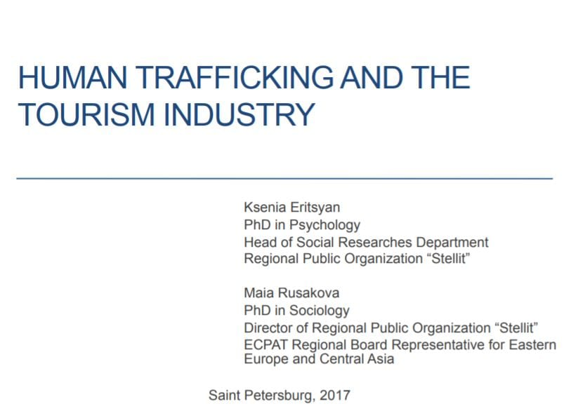 HUMAN TRAFFICKING AND THE TOURISM INDUSTRY