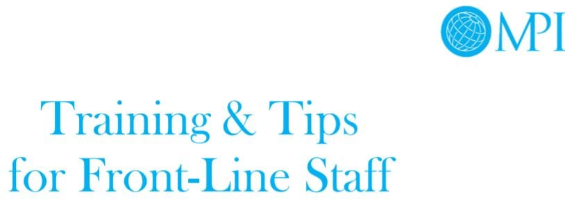Anti-Trafficking Training & Tips for Front-Line Staff