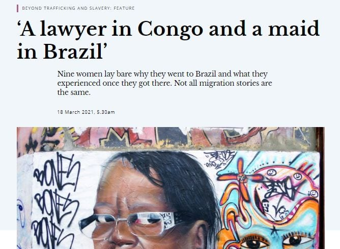 A lawyer in Congo and a maid in Brazil
