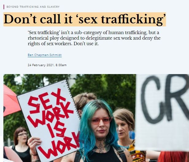Don't call it 'sex trafficking'