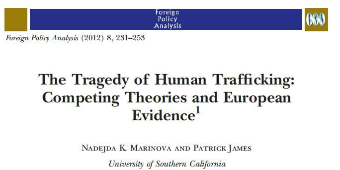 The Tragedy of Human Trafficking: Competing Theories and European Evidence