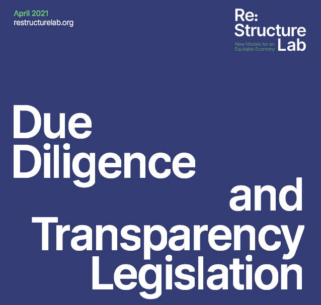 due diligence and transparency legislation report cover