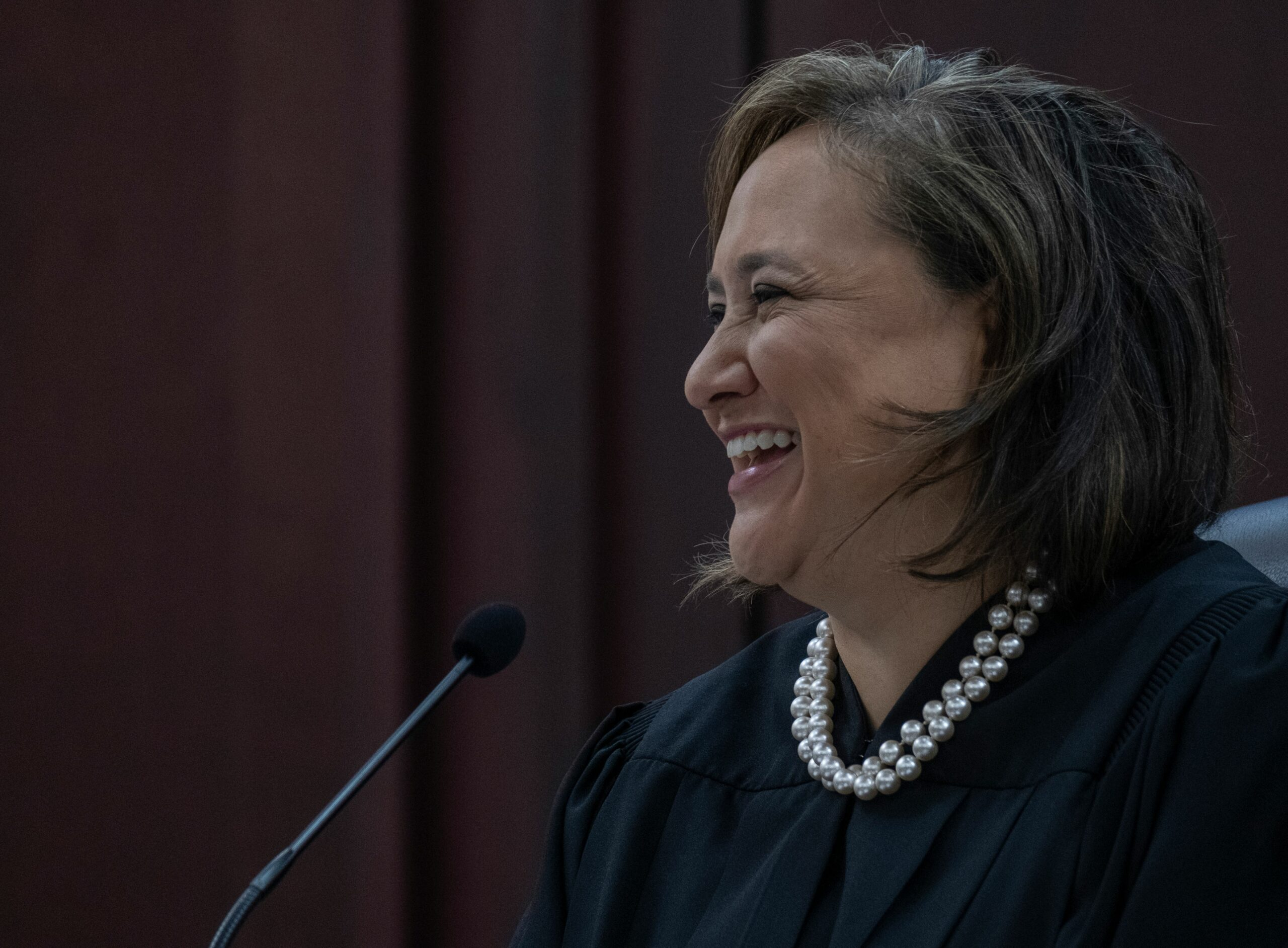 Nashville Judge Ana Escobar smiles during a session of the Cherished Hearts program to help survivors of human trafficking. (Photo: John Partipilo)