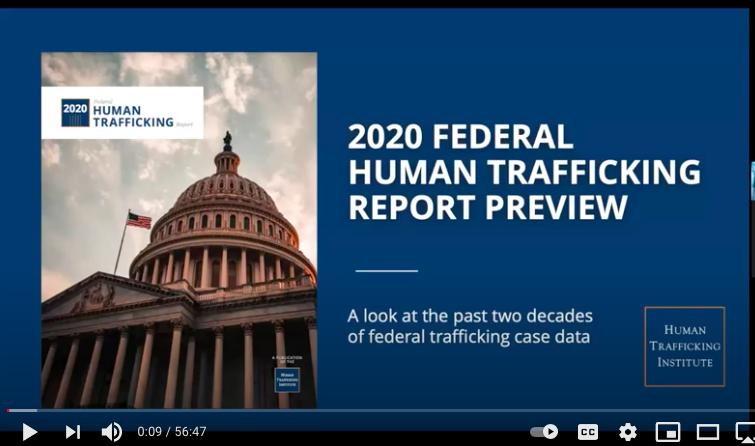 Human Trafficking Report Webinar
