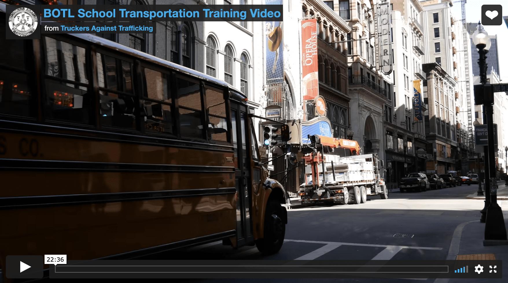 School Transportation Training Video
