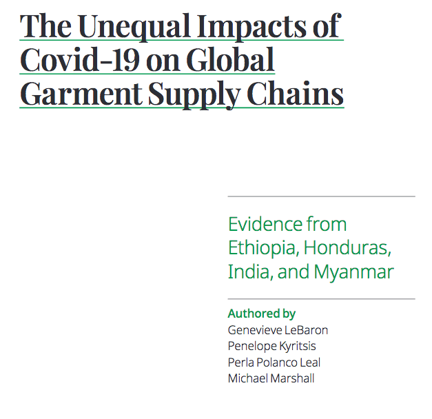 The Unequal Impacts of Covid-19 on Global Garment Supply Chains