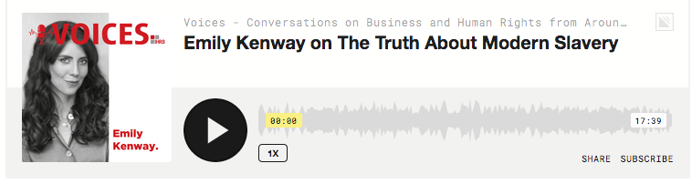 Truth about Modern Slavery podcast