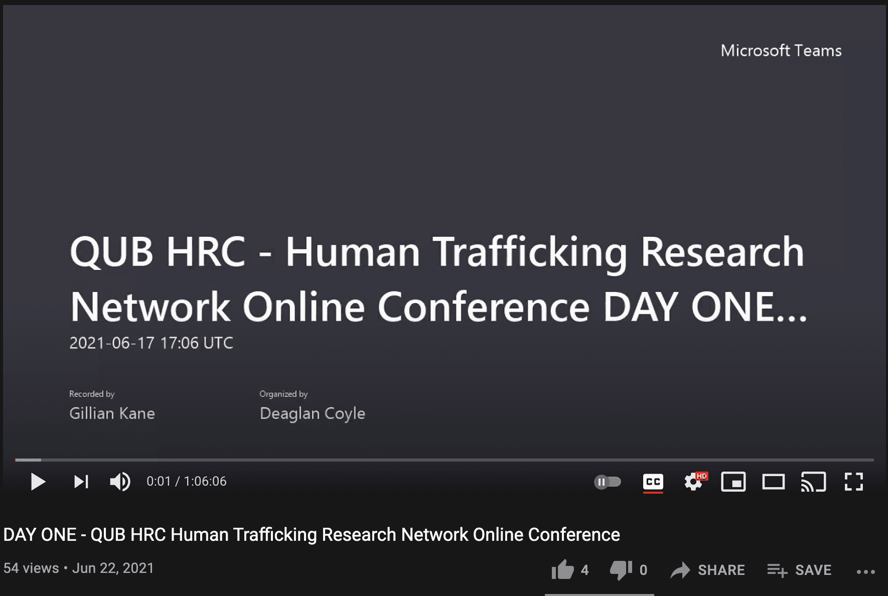 Human Trafficking Research Network Online Conference 2021