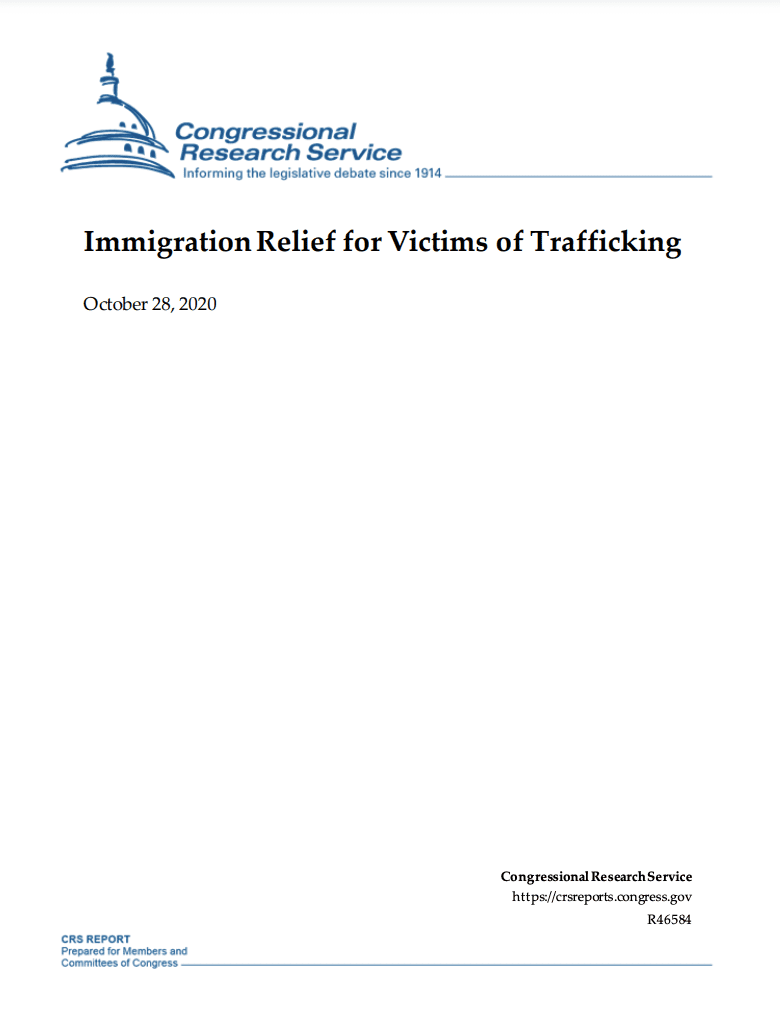 Immigration Relief for Victims of Trafficking