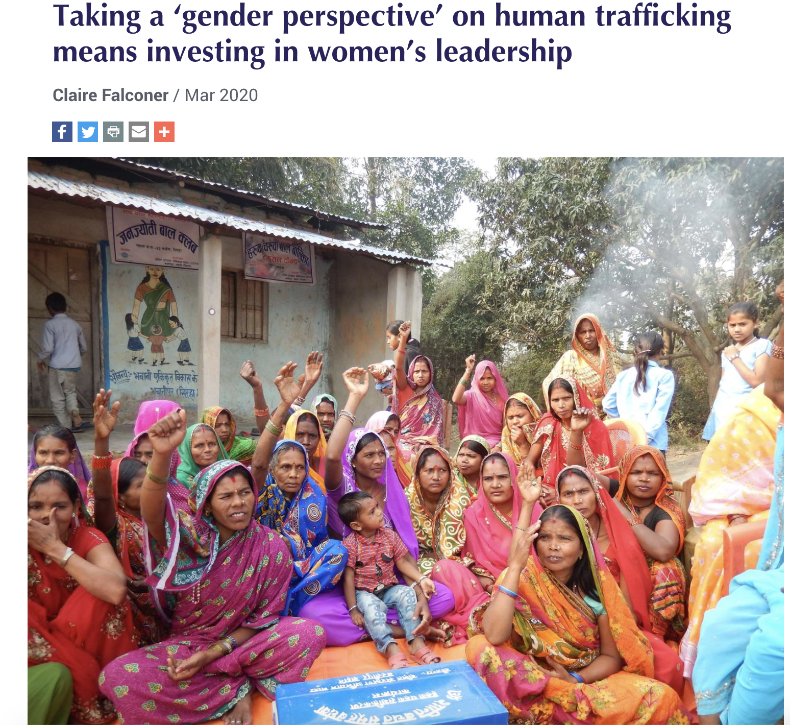 Taking a 'Gender Perspective'  on Human Trafficking Means Investing in Women's Leadership