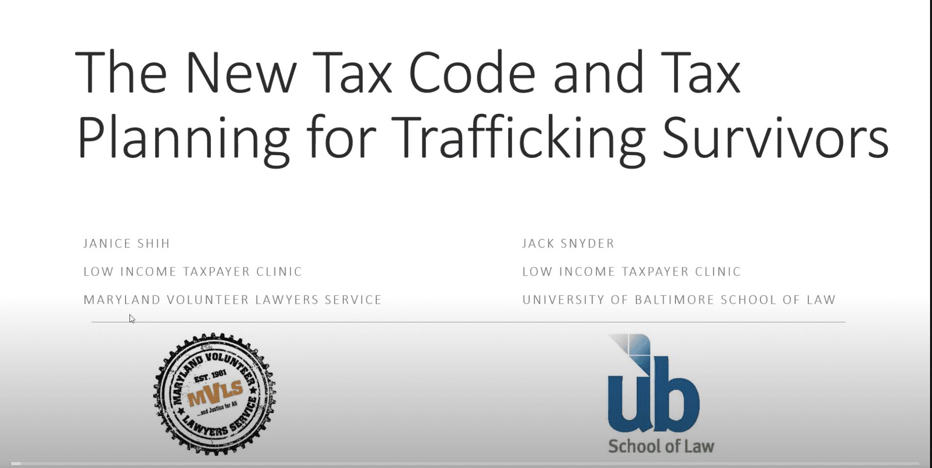 Webinar: Advocating For Trafficking Survivors Facing Tax Controversies