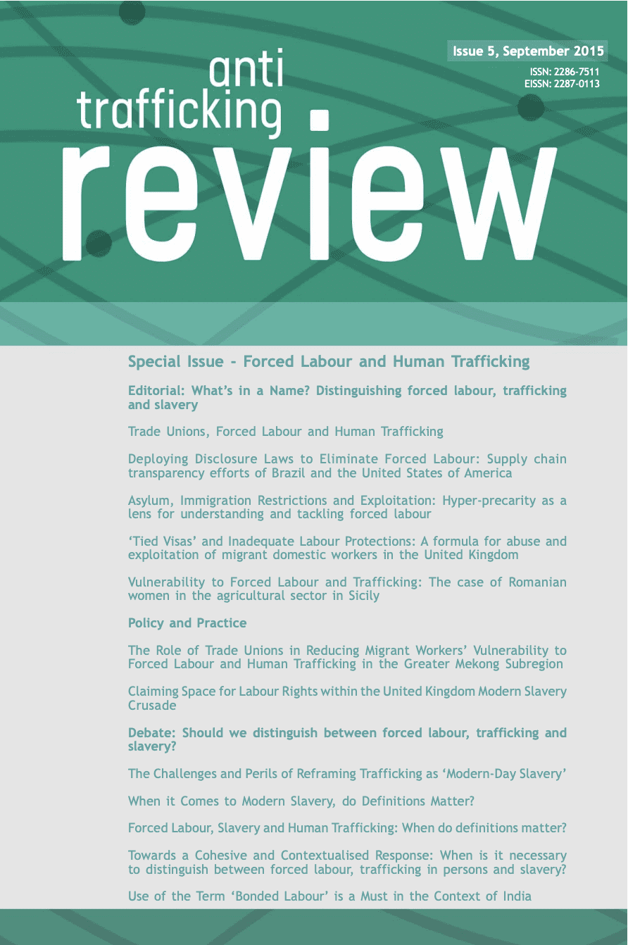 Anti-Trafficking Review: Forced Labour and Human Trafficking
