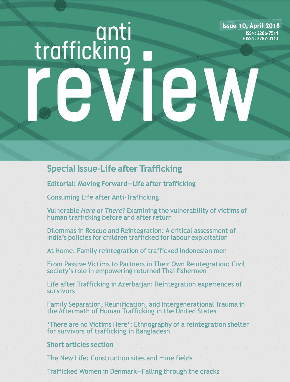 The Anti-Trafficking Review: Life After Trafficking