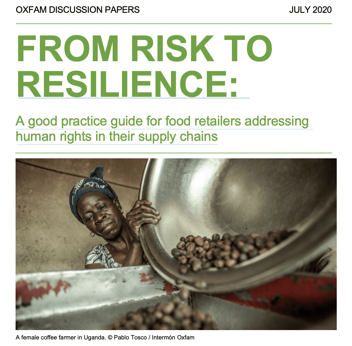 From Risk to Resilience: A good practice guide for food retailers addressing human rights in their supply chains
