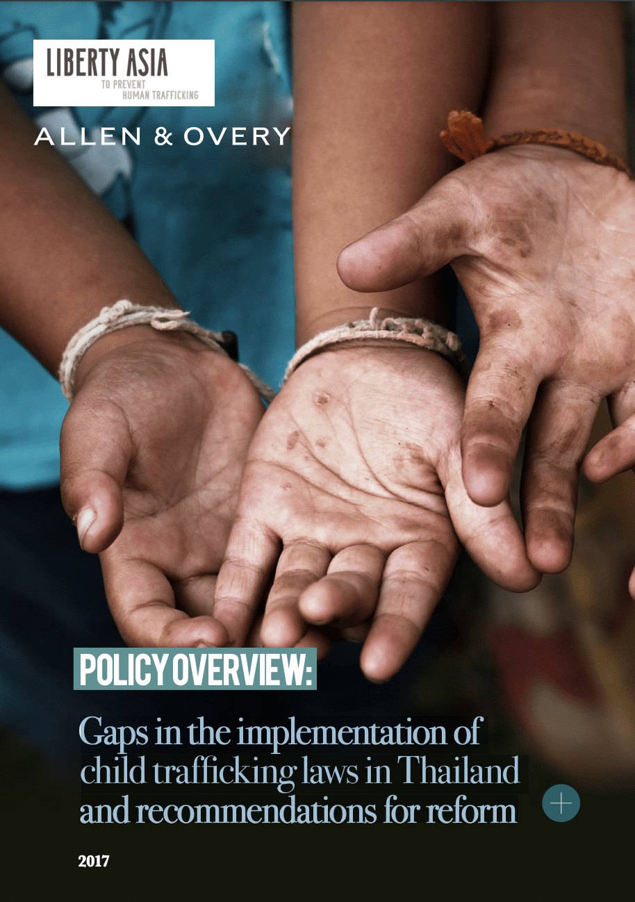 Gaps in the implementation of child trafficking laws in Thailand and recommendations for reform