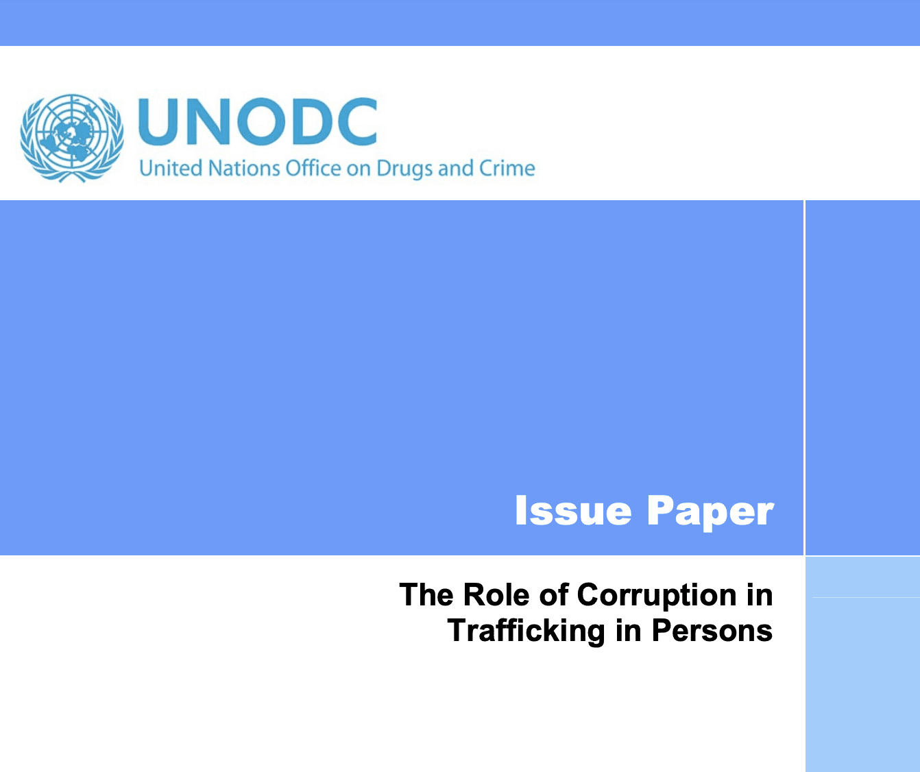 The Role of Corruption in  Trafficking in Persons