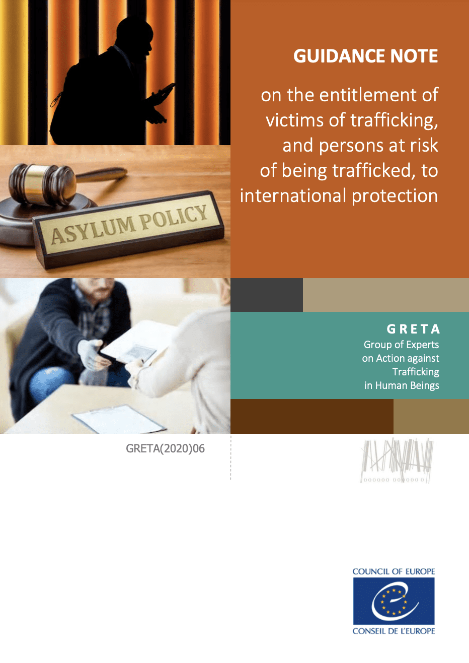 Guidance note on the entitlement of victims of trafficking, and persons at risk of being trafficked, to international protection