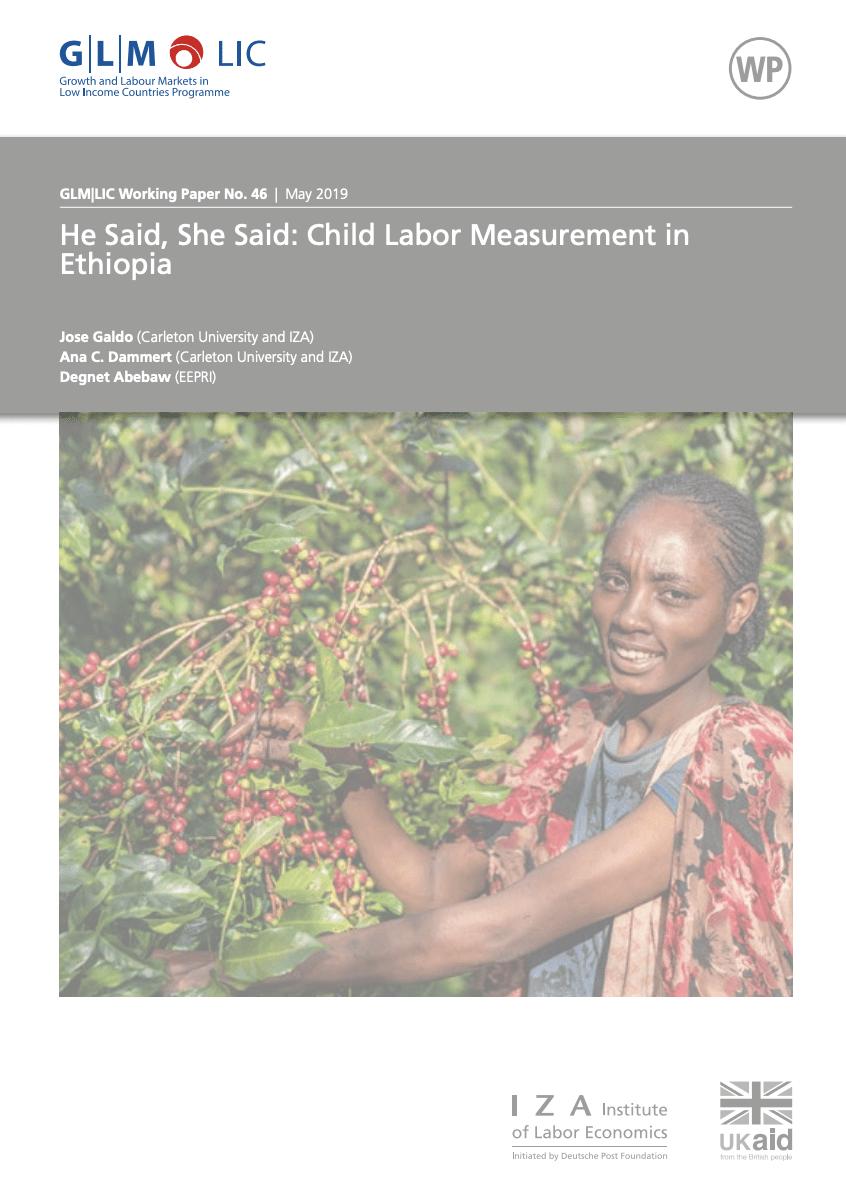 He Said, She Said: Child Labor Measurement in Ethiopia