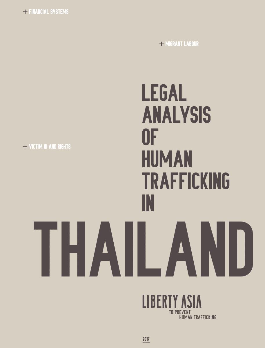 Legal Analysis of Human Trafficking in Thailand