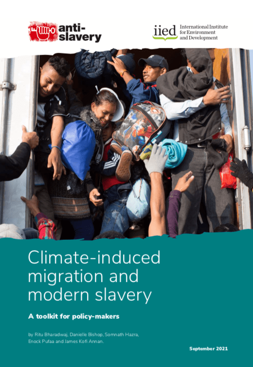 Climate-induced migration and modern slavery
